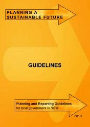 Planning and Reporting Guidelines - Division of Local Government ...