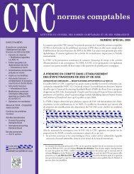 CNC normes comptables, numéro spécial 2005 - Deloitte & Touche ...