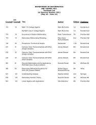 Course# Course# Title Author Edition Publisher - the Mathematics ...