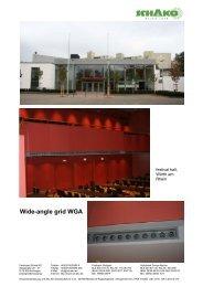Wide-angle grid WGA-V - Schako