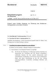 Bundesrat 103/1/13 Empfehlungen - Umwelt-online