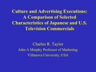 Culture and Advertising Executions: A Comparison of Selected ...