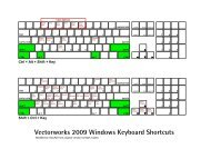 Vectorworks 2009 Windows Keyboard Shortcuts