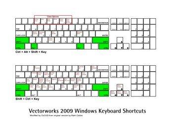 Vectorworks 2009 Windows Keyboard Shortcuts