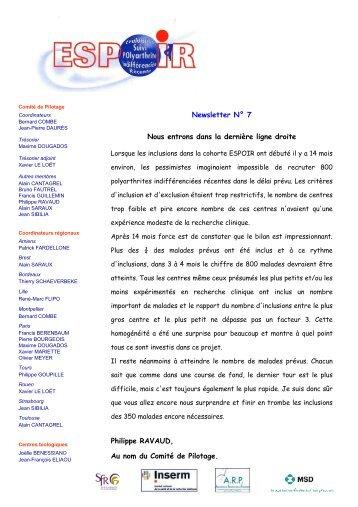 Newsletter 07 - La cohorte ESPOIR
