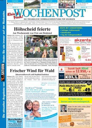 Solingen-West 38-12 - Wochenpost