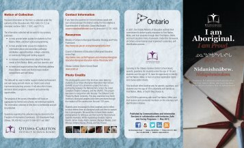First Nation, Métis, and Inuit Voluntary Self-Identification brochure