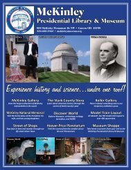 McKinley Presidential Library & Museum Profile - Ohio Has It!