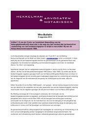 Wro-Bulletin - Hekkelman Advocaten & Notarissen