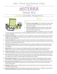 101 Uses for the doTERRA Intro Kit - dōTERRA - Essential Oils