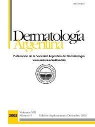 Publicación de la Sociedad Argentina de Derm atolog í a