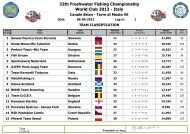 33th Freshwater Fishing Championship World Club 2013 - Italy