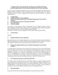 VERBALE DELLA RIUNIONE DEL CONSIGLIO DI CORSO DI ... - dieet