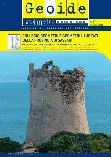 luglio 2011 - Collegio dei Geometri della provincia di Sassari