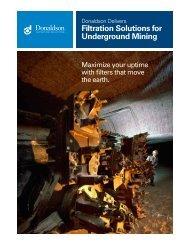 Underground Mining Overview - Donaldson Company, Inc.