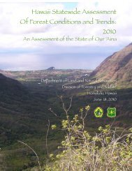 Hawaii's Forests - Western Forestry Leadership Coalition