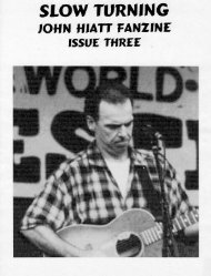 issue 3 - The John Hiatt Archives