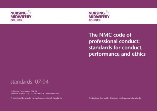 The NMC code of professional conduct - Action on Elder Abuse