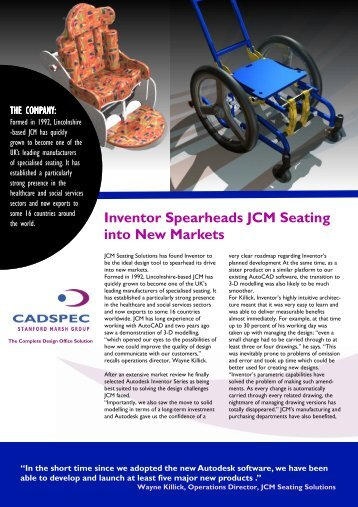 JCM Casestudy (PDF 539 Kb) - Cadspec