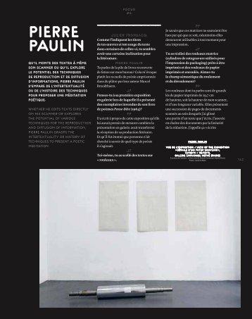 PIerre PAuLIn - Galerie Emmanuel Hervé