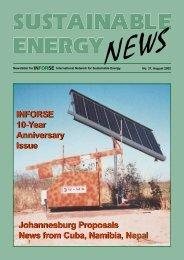 SEN 37 pdf - International Network for Sustainable Energy