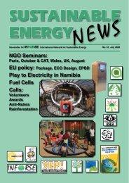 SEN 61 - International Network for Sustainable Energy