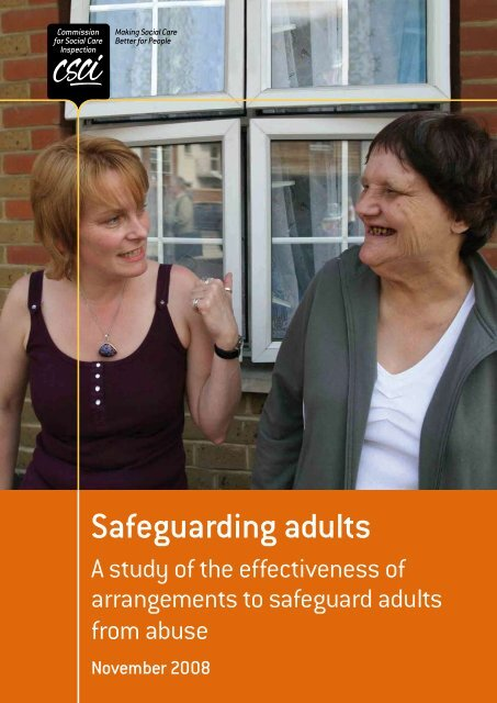 Safeguarding adults - Action on Elder Abuse