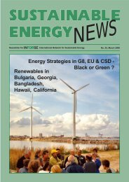 Sustainable Energy News - International Network for Sustainable ...