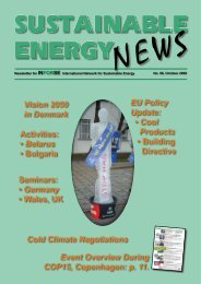 Sustainable Energy News No. 66 - International Network for ...
