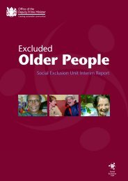 ODPM report: Social Exclusion of older people - Action on Elder Abuse
