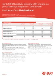 Srpen 2012 – Ceník dodávky elektřiny - E.ON