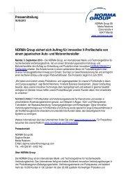 NORMA Group sichert sich Auftrag für innovative V-Profilschelle von ...