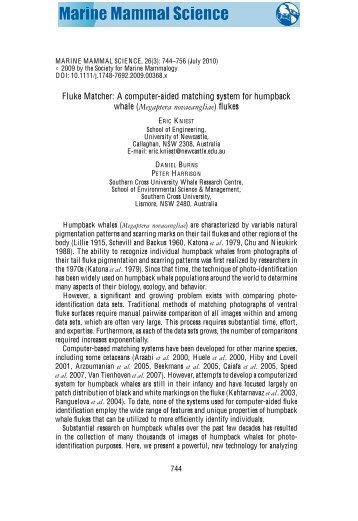 Fluke Matcher - WhaleResearch.org