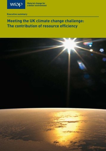 The contribution of resource efficiency - Wrap