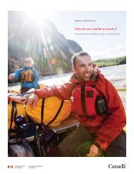 How do you market a country? - Canadian Tourism Commission ...