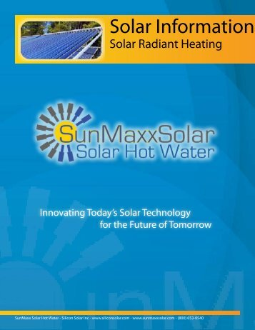 Solar Information - Solar Hot Water & Heating Manufacturer
