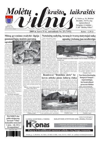 2009 m. kovo 31 d., antradienis Nr. 25 - VILNIS