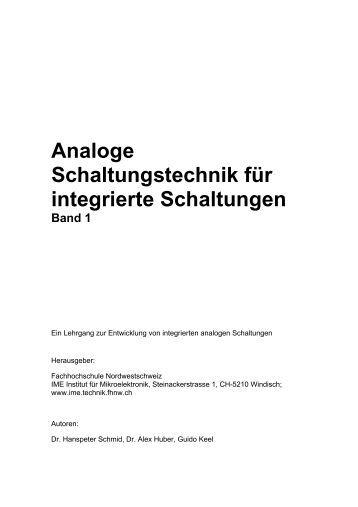 Analoge Schaltungstechnik für integrierte ... - Familie Schmid-Werren