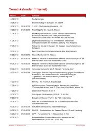Schuljahr 2013/2014 - Realschule plus mit Fachoberschule Nierstein
