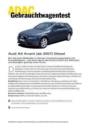 Gebrauchtwagentest - ADAC