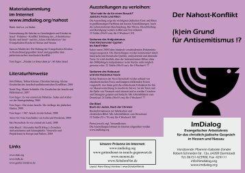 (k)ein Grund für Antisemitismus - Christlich-jüdisches Gespräch in ...