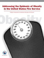 Addressing the Epidemic of Obesity in the United States Fire Service