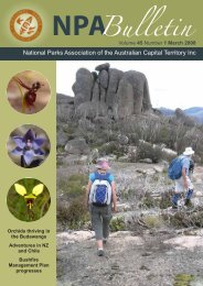 Vol 45 No 1 Mar 2008 - National Parks Association of the ACT