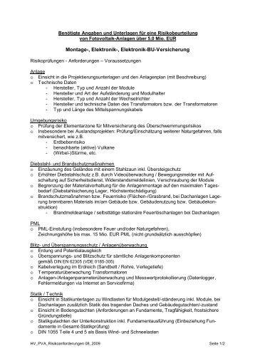 Unterlagen ab 5 Mio - VAA - Solarhandel.de