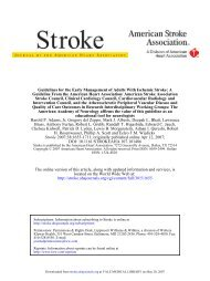 Guidelines for the Early Management of Adults With Ischemic Stroke ...
