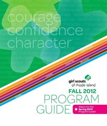 many wonderful programs - Girl Scouts of Rhode Island