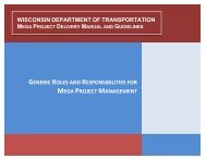 Mega Project Roles and Responsibilities Guidelines - Wisconsin.gov