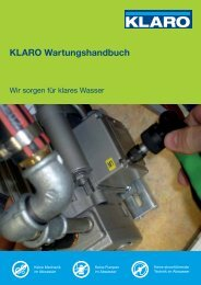 KLARO Wartungshandbuch - KLARO GmbH