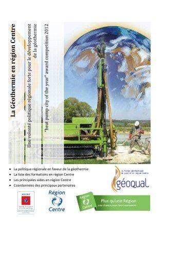Les formations Géothermie en région Centre - Énergies-Centre ...