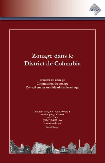 Zonage dans le District de Columbia - Office of Zoning